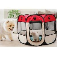 المحمولة قابلة للطي خيمة كلب بيت الكلب قفص الكلب القط خيمة playpen جرو بيت الكلب yopeto عملية سهلة مثمنة سياج قفص الكلب