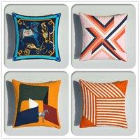 Европейское животное геометрия шаблон подушки подушки двойной боковой печати бархатная подушка чехол дома декоративный диван наволочка 45 * 45см