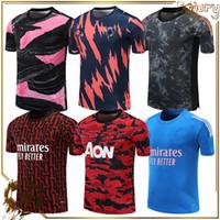 2021 Real Madrid Eğitim Gömlek Maç Öncesi Futbol Forması Futbol Üniformaları Kamuflaj Kıyafetleri Kısa Setleri ile 20 21 Tayland