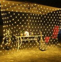 أدى جديدة الصيد صافي سلسلة أضواء في الهواء الطلق للماء أضواء عيد الميلاد سلسلة الديكور النجوم 8 * 10 متر الصيد أضواء صافي