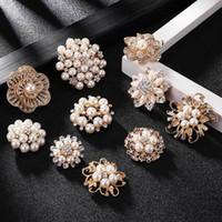 Kobiety Duże Broszki Biżuteria Lady Snowflake Imitacja Perły Dżetów Kryształ Ślub Broszka Pin Accessorise 10 Style