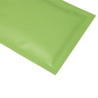 أحجام مختلفة 100 قطع الحرارة الختم المسطح البريدي الحقائب المسيل للدموع الشق ماتي الأخضر الألومنيوم احباط البريدي البلاستيك حقيبة سريع السفينة