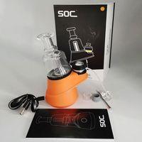 Concentrado vaporizador de cera 2600mAh Dab So Soc Starter Kits Vape Mods Controle de Temperatura Atomizador de Vidro Da Água Dab Rig que Shatter Budder Dabber Rigs