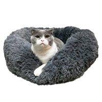 Sconto [Hobbyzoo] Pet Dog Cat Calmante Letto Kennels caldo morbido rotondo rotondo navy peluche PP Cotto