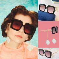 estrella femenina gafas de sol clásicas de la moda gafas de 0722S placa de policarbonato marco rectangular 0722 gafas de sol con la caja gafas de sol pendientes