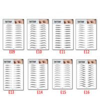 MP041 Eyebrows Etiqueta Transferencia de agua Transferencia de agua Ojo Cojín de ojos Pegatinas Tatuaje Largo Duradero Falso Persinerantes Herramientas de maquillaje