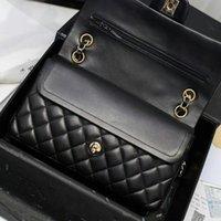 Diseñador- Bolsas de aleta de cadena clásica Mujeres Bolsa de hombro Femenino Crossbody Bols Bolsos Bolsos Bolsas de cadena de diseñador