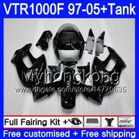 Körper + Tank für Honda Superhawk VTR1000F 97 New Black 98 99 00 01 05 56HM.39 VTR1000 F Vtr 1000 F 1000F 1997 1998 1999 2000 2001 Verkleidungen