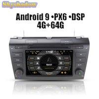 DSP PX6 IPS Android 9.0 4GB 64GB ROM автомобиль DVD-плеер навигация GPS Map WiFi RDS RADE BLUETOOTH для 3 2003 -2009