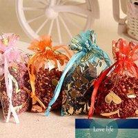 100pcs lotto monili Wedding Bag regalo di Natale Sacchetti per imballaggio Sacchetti Drawable Cuore Fiore Piccolo Organza Bags Favor