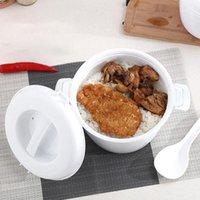 Forno de microondas utensílios especiais cozinhando fogão de arroz fogão aglomano de espessamento cozinhar caixa de arroz pote de plástico com tampa1