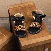 Muqgew الأطفال الصغار الساخنة الفتيات الأطفال bowknot ليوبارد الصنادل أحذية للأطفال أطفال الصيف حفل زفاف حزب الأميرة الأحذية #xtn T200530