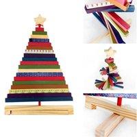 Рождественские украшения 30 см полосатые вращающиеся деревянные дерево орнамент цвета рождественские украшения ремесло блок игрушки декор для домашнего дерева1