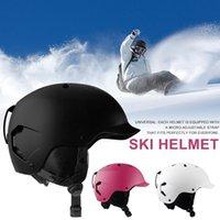 للجنسين خفيفة المحمولة الشتاء السلامة على الجليد EPS التزلج خوذة واقية الرياضة في الهواء الطلق ركوب الكبار عضويا مصبوب