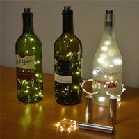LED Bakır Tel Şişe Tıpa Lambası Düğün Kutlama Noel Süslemeleri Lambaları Dize Hediye Yüksek Kalite Yeni Geldi 5 8wx3 J1