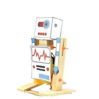 DIY WOODEN SCIENCE SCIENCE SCIENCE SCIENCE DE ROBOT MODÈLE JOUET POUR ENFANTS Science Physique Expérience Creative EducationA SQCIGP Toys2010