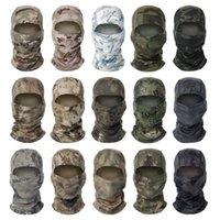 Chiefs Kamuflaj Hood Açık Binme Güneş Koruma Hızlı Kurutma Örgü Kumaş CS Hood Sıcak Satış 27 Renkler Maske