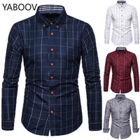 قمصان رجالية قمصان رجالي camisa masculina منتظم صالح منقوشة طويلة الأكمام الرجال قميص زائد الحجم M-5XL1