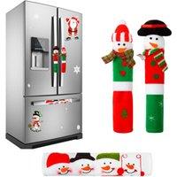 Navidad Nevera cubiertas de la manija muñeco de nieve Decoración Microondas Nevera puerta cubierta de la manija de la aplicación de cocina JK2011XB