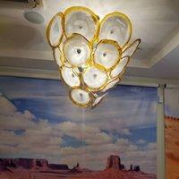 Современные лампы Gold Beedant Lights 36 дюймов Италия Италия Мурано Стекло Цветочное Осветное освещение для столовой / ресторана / кофе / клуб-л