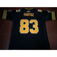 Benutzerdefinierte 121 Jugendfrauen Vintage Hamilton Tiger-Cats # 83 Andy Fantuz Football Jersey Größe S-4XL oder benutzerdefinierte Name oder Nummer Jersey