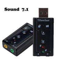 Conector de cable de audio USB USB de Suzun USB Tarjeta de sonido USB Interfaz de audio adaptador de tarjeta de sonido para computadora portátil PC Dropshipping al por mayor