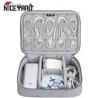 NICEYARD cosmético cremallera bolsas de viaje ordenado cable USB Digital Portátil Bolsa cables Gadget Organizador cargador bolsa de almacenamiento a prueba de golpes
