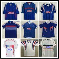 1982 1984 1998 2000 2002 2010 FRANCISCOLI Retro Soccer Jersey 1996 Zidane # 10 Team Home Jersey Henry Vintage Clásico Vieja camiseta de fútbol