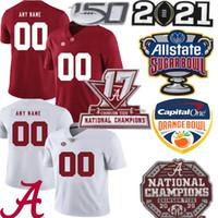Custom Alabama Carmesim Maré Futebol Stitched Jersey Qualquer Nome Número Jaylen Waddle Mac Jones Tagovailoa 9 Bryce Jovens mulheres mulheres juventude crianças