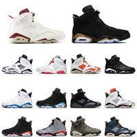 Air Jordan 4 6 Retro  Jordans 4 6 Travis Scott 6s 2021 DMP Jumpman Chaussures Femmes Hommes Basketball Hare Jordan Retro Tech Chrome Quai OG 54 Formateurs Chaussures de sport