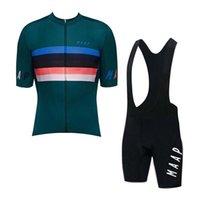 Yaz Erkekler Bisiklet Jersey Maap Ekibi Kısa Kollu Set Nefes Hızlı Kuru Yarış Bisiklet Gömlek Önlüğü Şort Takım Bisiklet Kıyafetler 030934