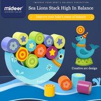 Midreer Kids Sea Lions pilha alta em equilíbrio Formas infantis Pilha de alto equilíbrio de madeira blocos de construção cedo brinquedos LJ201114