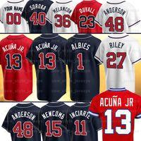 13 Ronald Acuna JR Jersey 5 Freddie Freeman 10 Chipper Jones Dale Murphy 7 Dansby Swanson Ozzie Albes Dansby Swanson Baseball Jerseys