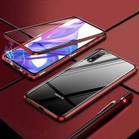 Роскошные 2-го магнитных случаев для Huawei Honor 8x передняя задняя задняя задняя сторона закаленного стекла 360 Абоназорное покрытие телефона HOOD8X 8 H SQCBMF