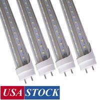Estoque nos EUA Rotate Cap Diversos T1 G13 4FT LED Tubo 1.2M Luzes 22W 28 W Cool White, T12 LEDS Fluorescentes Tubos Bulbos AC85-260V Usalight