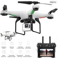 EBOYUU L500 2.4GHZ RC Quadcopter 720P Caméra HD WIFI FPV RC Drone 6-Axe Gyro 1 Touche Retour / Off / Land Altitude Holdess RTF 201125