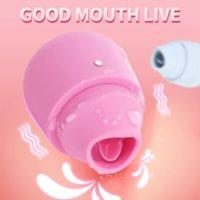 Vibrateur de langue portable Bodypro pour femmes Clitoris Clitoris Stimulateur de léchage anal étanche Chargements USB Toys sexuels adultes