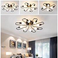 Smuxi 4/6/8 Heads LED Edison-Decken-Lampe Retro-Stil Schlafzimmer Wohnzimmer hängendes Licht Kronleuchter Wohnkultur Beleuchtung E27