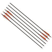 Стрелка лука лука 32 дюйма позвоночника 400 углеродных стрелок со сменными стрелками головы углеродные волокна стрелки для восстания охотничьего