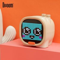 Divoom Timoo Pixel الفن بلوتوث المتكلم المحمولة اللاسلكية المتكلم ساعة إنذار لطيف أداة الديكور سطح المكتب مع شاشة LED