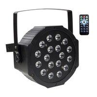 Наревные огни с RGB 18LEDS Wash Bleying 18W Remote и DMX Control для свадебных церковных сценических освещений