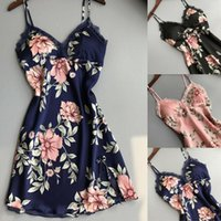 Meihuida 2019 Hot Womens Lace Floral Seilk Gown senza maniche Nightie Sexy Sleepwear Dritte da notte Dresstess Dresses1