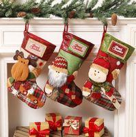 Handmade Трехмерная рождественский чулок подарок мешок рождественские носки конфеты мешок украшения праздника Подвеска GD802