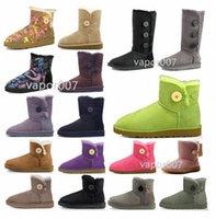 2021 Moda Kadınlar Avustralya Mini Bailey II Klasik Düz Düğme Kısa Kar Botları Peluş Bayan Kış Diz Ayakkabı 36-42 K2NH #