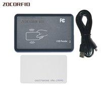 DIY 15 Stil Çıkış Formatı EM4100 125 KHz KIMLIK Kart Okuyucu / Erişim Kontrolü Okuyucu USB Portu + 2 ADET Beyaz Kart