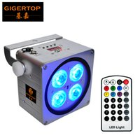 Gigertop TP-B08 neue silberne Farbe Gehäuse 4x18W RGBWA UV 6IN1 Innen Batterie Wireless-LED-Gleichheits-Licht quadratische Form Wall Washer