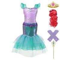 Comic con Little Mermaid Role Play Costume per ragazze Estate Make Up Party Abbigliamento Bambini Halloween Princess Abiti Areile Abiti Abiti LJ200923