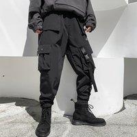 iidossan multi bolsos calças de carga homens casuais corredores homens harajuku streetwear calças calças hipping techwear venda quente 201109