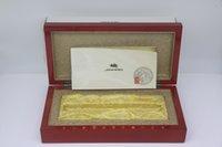 Jinhao صندوق الإطار الخشبي الأحمر مع فتحة القلم للنافورة القلم / قلم حبر جاف / أقلام الرول قطني القضية مع الدليل