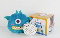 Elektrisch Cute Little Monster-Plüsch-Spielzeug, Cartoon-Tier, Make Vibrieren einen Sound Ball, Haustier-Hundespielzeug, für Ornament, Weihnachten Kid Geburtstagsgeschenk, 2-2